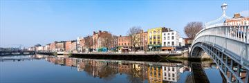 Historical Ha Penny Bridge, Dublin, Ireland