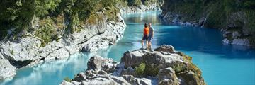 Hiking at Hokitika Gorge, West Coast