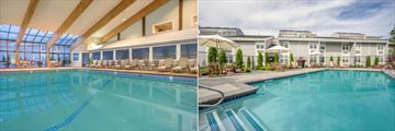 Indoor and Outdoor Pools at Holiday Inn Cape Cod Hyannis