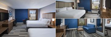 Double Guest Room, King Guest Room and Nashville Suite at Holiday Inn Express Downtown