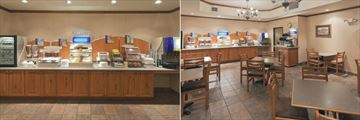 Breakfast Bar and Seating Area at Holiday Inn Express Hotel & Suites Keystone