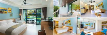 Holiday Inn Resort, Krabi, (clockwise from left): Pool Access Room, Garden View Room, Pool View Room, Kids' Suite and Family Suite