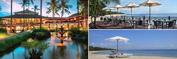 Melia Bali gardens and beach