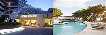 Entrance and outside pool at Hotel Croatia