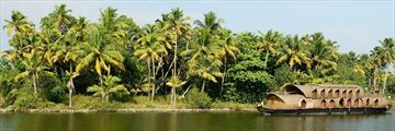 Houseboat along the Kerala State Backwaters in South India