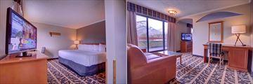 Inns of Banff, Junior Suite Bedroom and Living Area
