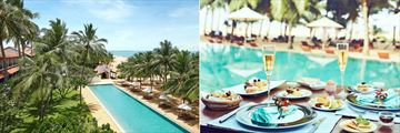 Jetwing Beach, Negombo, Resort Pool and Breakfast by the Pool
