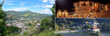 Panoramic views & Temple of the Sacred Tooth, Kandy