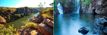 Katherine Gorge (left), and Litchfield National Park (right)