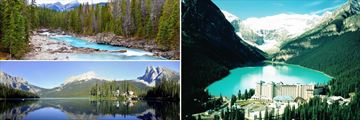 Kicking Horse River, Emerald Lake & Fairmont Chateau in Lake Louise