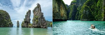 Limestone karsts in Koh Yao and Phuket