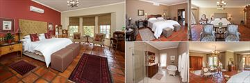 La Plume Guesthouse, (clockwise from left): Honeymoon Suite, Luxury Room, Superior Suite, Superior Suite and Luxury Bathroom