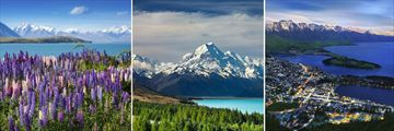 Lake Tekapo, Lake Pukaki & The Remarkables by Queenstown