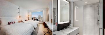 Le Meridien Deluxe Guestroom and Bathroom