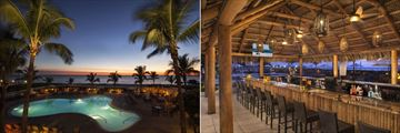 Lido Beach Resort, Pool in Evening and Poolside Tiki Bar