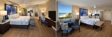 Lido Beach Resort, Tiki Building - Traditional King Room and Beachfront King Kitchenette