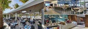 Loews Miami Beach, Nautilus, Bar Collins and Miami Joe Coffee Co.