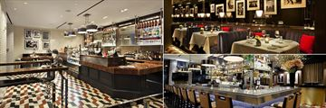 Loews Regency New York, Sant Ambroeus Cafe and The Regency Bar & Grill Banquettes and Bar Area