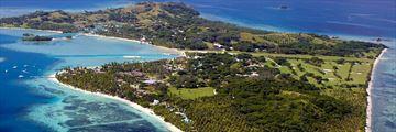Aerial View of Malolo Lailai at Lomani Island Resort
