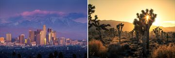 Los Angeles Skyline & The Mojave Desert