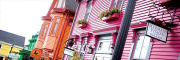 Bright architecture in Lunenburg, Nova Scotia