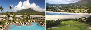 Four Seasons Resort Nevis pool, beach and golf views