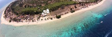 MAHAMAYA Boutique Resort, Gili Meno, Aerial View of Resort