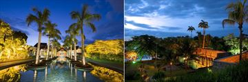 Maritim Resort & Spa, Entrance Lobby and Pool and Historical Ruins of Balaclava at Night