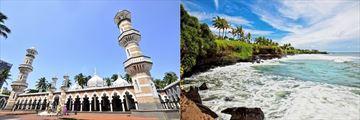 Masjid Jamek, Kuala Lumpur & Tropical Landscape in Bali
