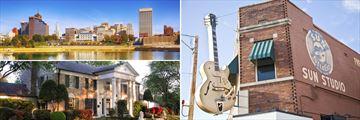 Memphis Skyline, Graceland & Sun Studios, Tennessee