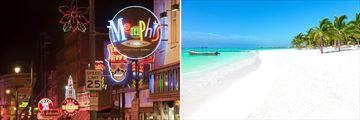 Memphis, Tennessee & Pristine Mexican Beach