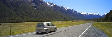 Driving through Milford Sound