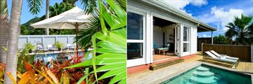 Montpelier Plantation Resort, Nevis, Main Pool and Tamarind Villa Pool