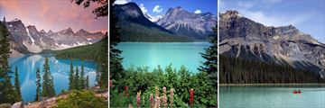 The Beautiful lakes & mountains in Banff National Park
