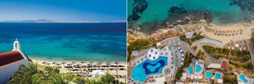 Views of the beach at Mykonos Grand Hotel & Resort