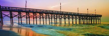Myrtle Beach pier at sunset, South Carolina