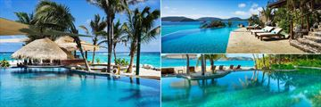 Necker Island, Beach Pool, The Great House Pool and Infinity Pool