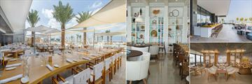 Nikki Beach Resort & Spa Dubai, (clockwise from left): Beach Club, Key West, Soul Lounge & Bar and Cafe Nikki
