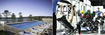 Outdoor Pool and Fitness Centre at Novotel Sydney Manly Pacific