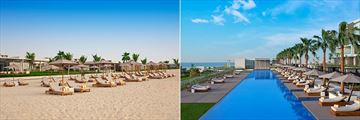 The Beach and Main Pool at The Oberoi Beach Resort, Al Zorah