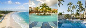 Beach and Swimming Pools at Occidental Caribe