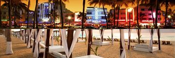 Ocean Drive Miami and Hyatt Zilara Cancun beachfront cabana