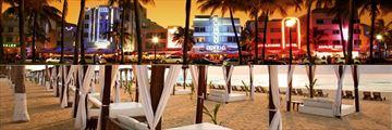 Ocean Drive Miami and Hyatt Zilara Cancun beachfront cabana