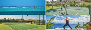 Water Sports, Pickle Ball, Yoga on the Terrace and Tennis at Oil Nut Bay