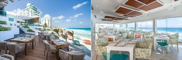 Oleo Cancun Playa Boutique Resort, Almar Restaurant Terrace and Interior