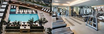Aerial Pool View and Fitness Centre at Omni San Diego Hotel