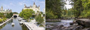 Parliament Hill in Ottawa & Algonquin Provincial Park