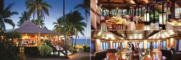 Outrigger Fiji Beach Resort, Sundowner Bar & Grill, Ivi Restaurant and Kalokalo Bar
