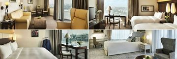 Pan Pacific Hanoi, (clockwise from top left): Studio Suite, Premier Suite, Presidential Suite and Executive Suite