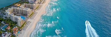 Panoramic aerial view of Cancun